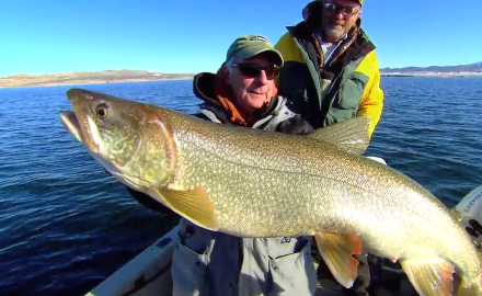 Some of the biggest lake trout in North America are in the western part of the United States.