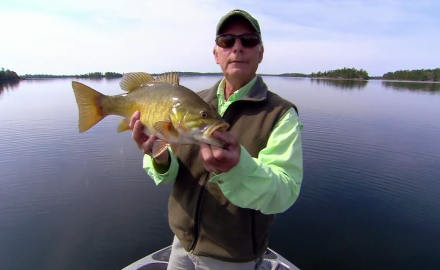 Doug Stange deploys super aggressive tactics for smallmouth strikes.