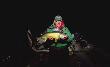 The In-Fisherman staff goes night-trolling for walleyes.