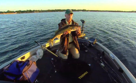 The In-Fisherman staff use a new spinner option for weed walleyes.