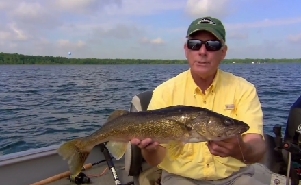The In-Fisherman staff fine-tunes and reveals secrets, as they use spin crawlers for walleyes.