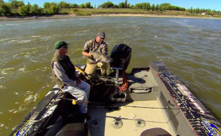 The In-Fisherman staff shifts into high gear, as they slip into combat mode to tangle with the world's biggest channel catfish.