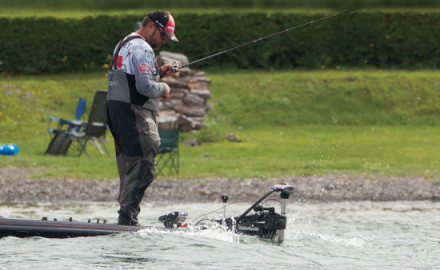 How to catch spotted bass in windy conditions.