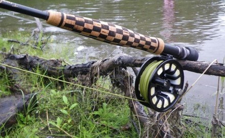 Checkerboard Rod Handle
