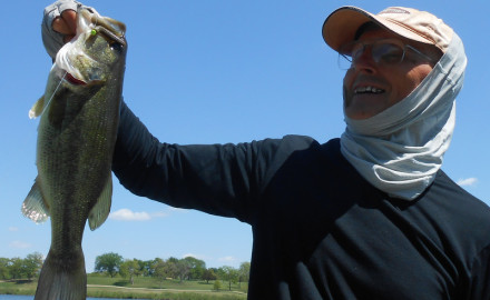 Rick Allen of Dallas with a six-pound largemouth bass that he caught on May 18.  Our May guide to