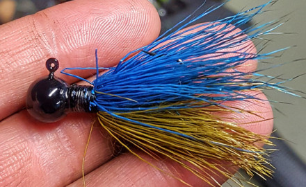 Keith Thompson's favorite brown-and-blue hair jig     On May 2, we published a gear guide