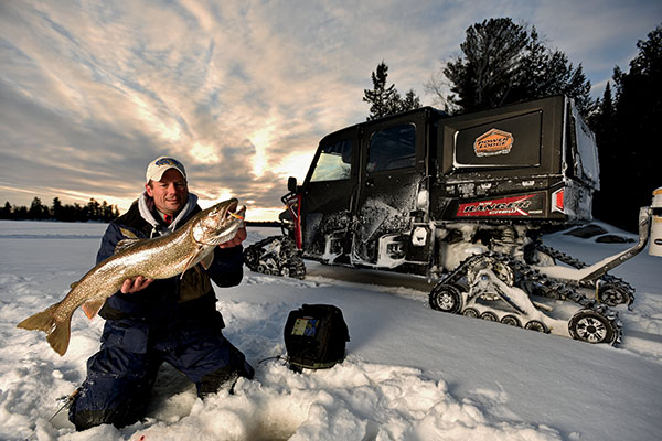 Tricked-out ATV's for Ice Fishing