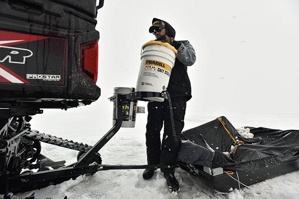 ATV Attachment for Ice Fishing