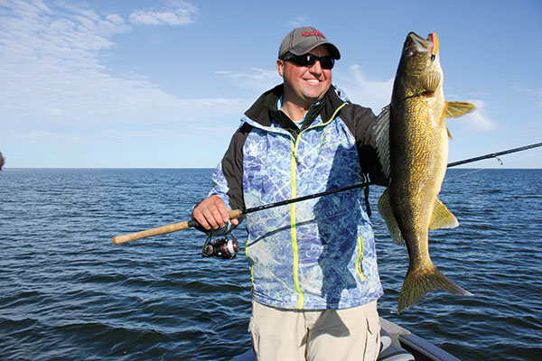 Walleye swim jigs catch trophy fish