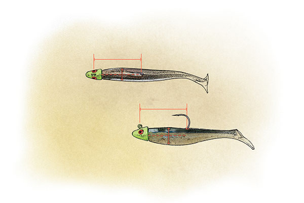 Walleye swim jig rigging styles