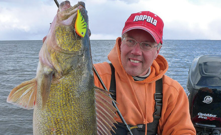 Walleyes seem genetically programmed to react to rising and falling prey.