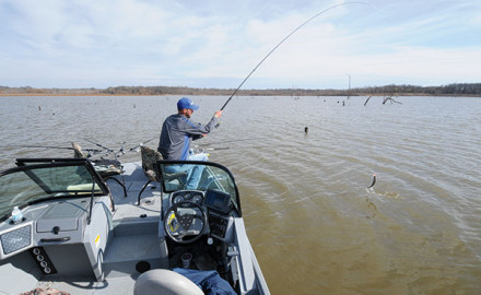 Finding crappie in shallow, muddy water during springtime can be some of the hottest fishing of the year.