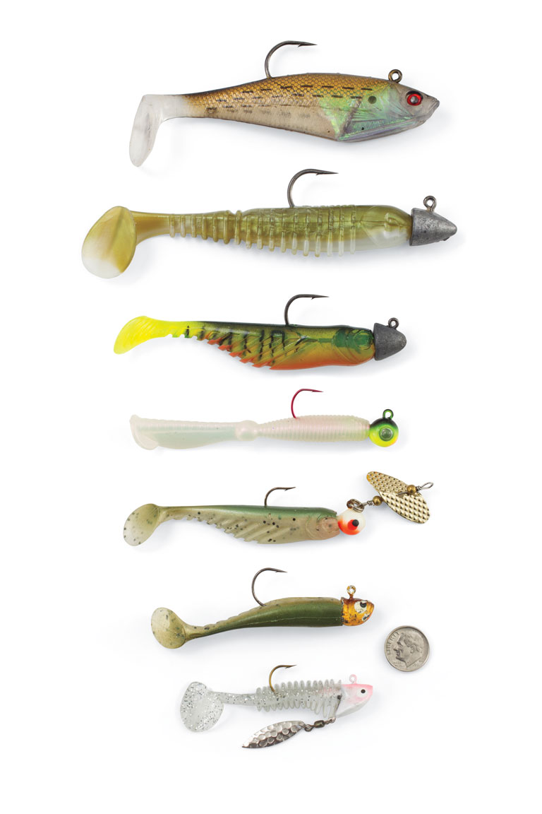 Assorted-Paddletail-Swimbaits-for-Walleyes