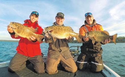 Top locations for giant smallmouth.