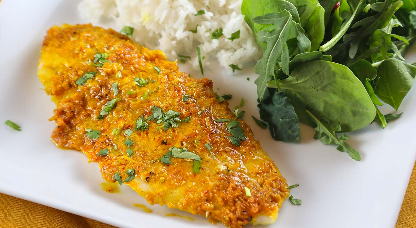 Walleye with Lemongrass and Turmeric Recipe