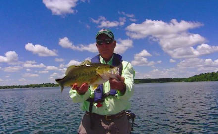 Doug Stange pitches irresistible tubes to habitat edges for largemouth bass.