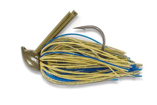 1-ounce Flippin Black-Blue Medlock Jig