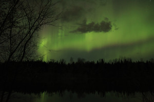 The Northern Lights danced in the Saskatchewan sky