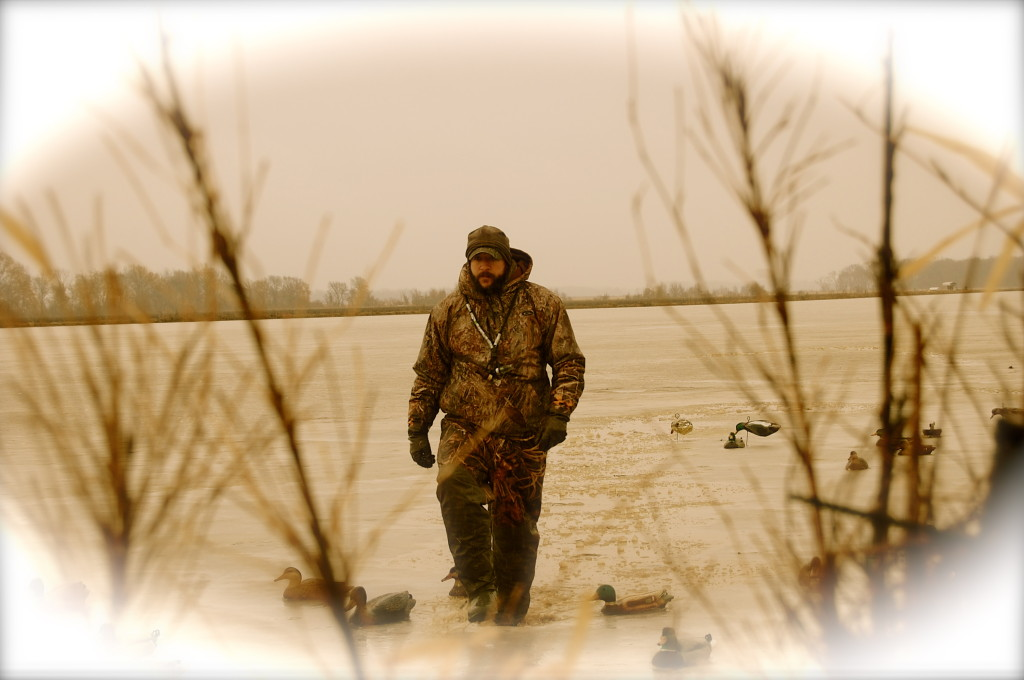 The frozen landscape didn't hinder our hunt ironically enough. We wreaked havoc on ducks that day.