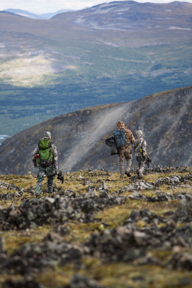 Sheep guide, Chad Lenz, leads the crew through the beautiful Yukon Territory