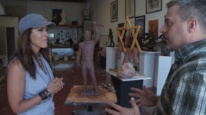 Marra shares his passion for honoring our country's heroes in his Sarasota studio.