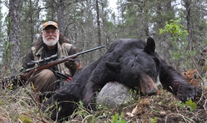 Larry Weishuhn and his beautiful bruin.