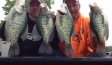 Kyle and I with some chunky Rend Lake 'bush dwelling' crappie