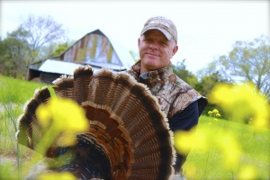 Jeremy Harrill with one of the many birds that gobbled for the last time last week.