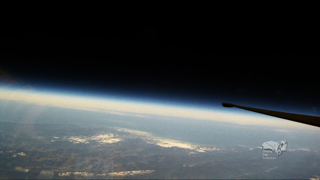 Flying at 70,000 feet is high enough to to see the curvature of Earth.