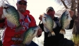Proof of the pudding. Tim and I with some of the giant slab crappie of Lake Washington.