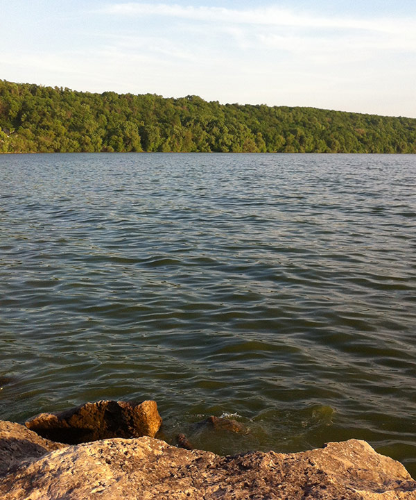 Fishing a new spot sportsman channel for Bass fishing from shore