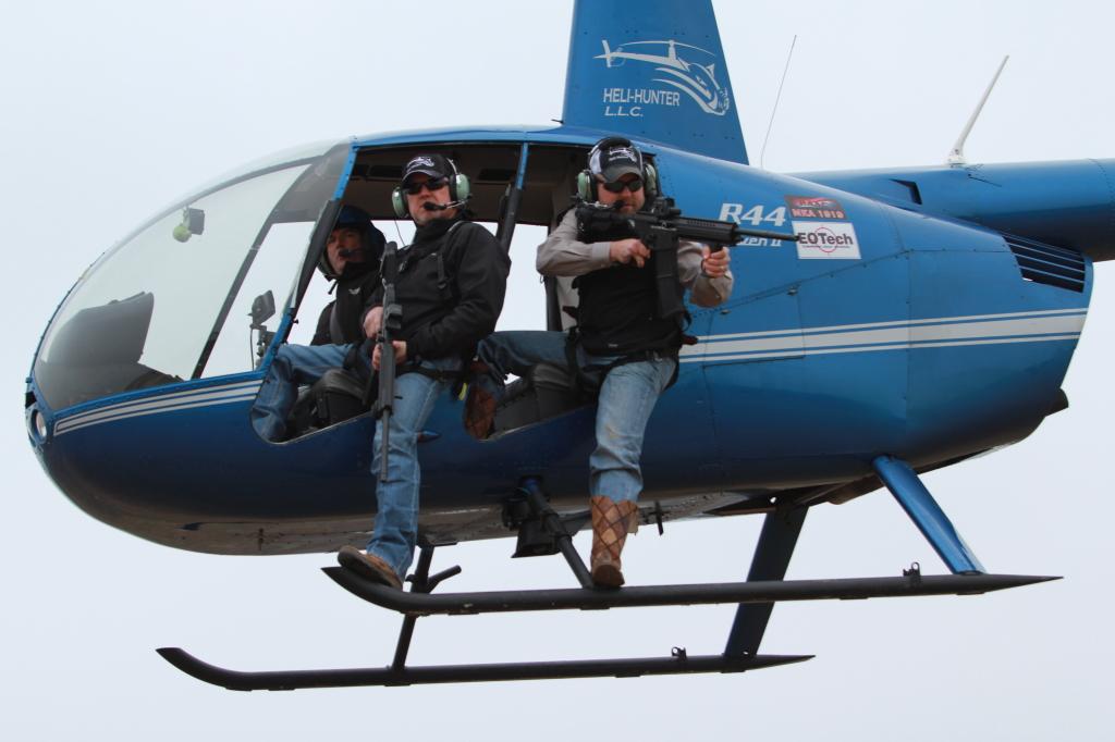 Craig Meier and Terrell Coleman, owners of Heli-Hunter LLC.