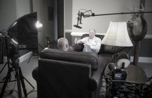 Paul Sawyer interviewing one of the knowledgeable experts.
