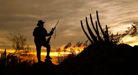 Larry Weishuhn enjoying a beautiful Texas Sunset.