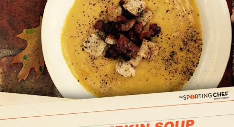 Roasted Pumpkin Soup with Wild Boar Bacon