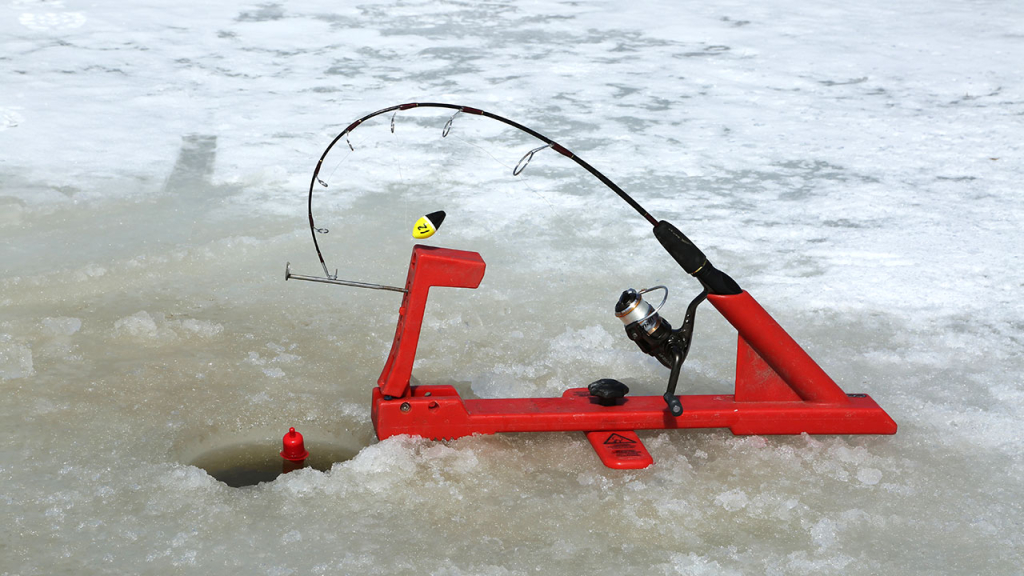 Ice fishing for steelhead tom gruenwald outdoors for Automatic fishing rod
