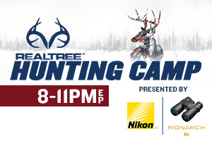 """Realtree Hunting Camp Tuesday"" presented by Nikon Showcases Monster Bucks"