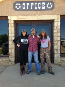 Travis takes Jana and her friend BeckyLou on a tour of Priefert's manufacturing facility