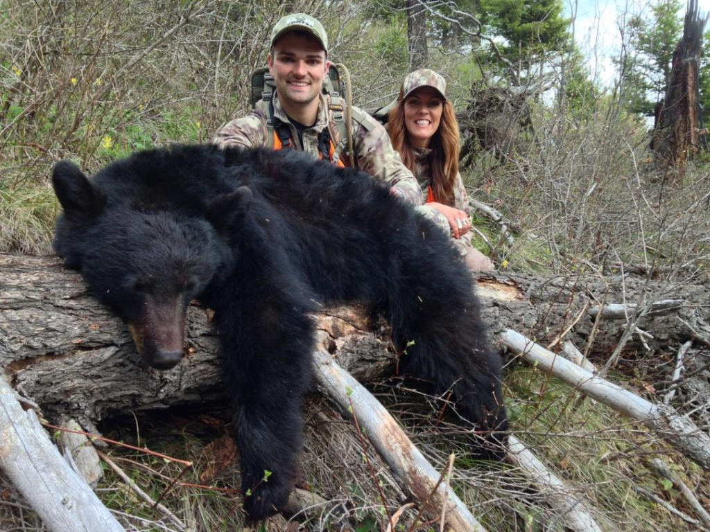 Brennan and I with his second Montana black bear.