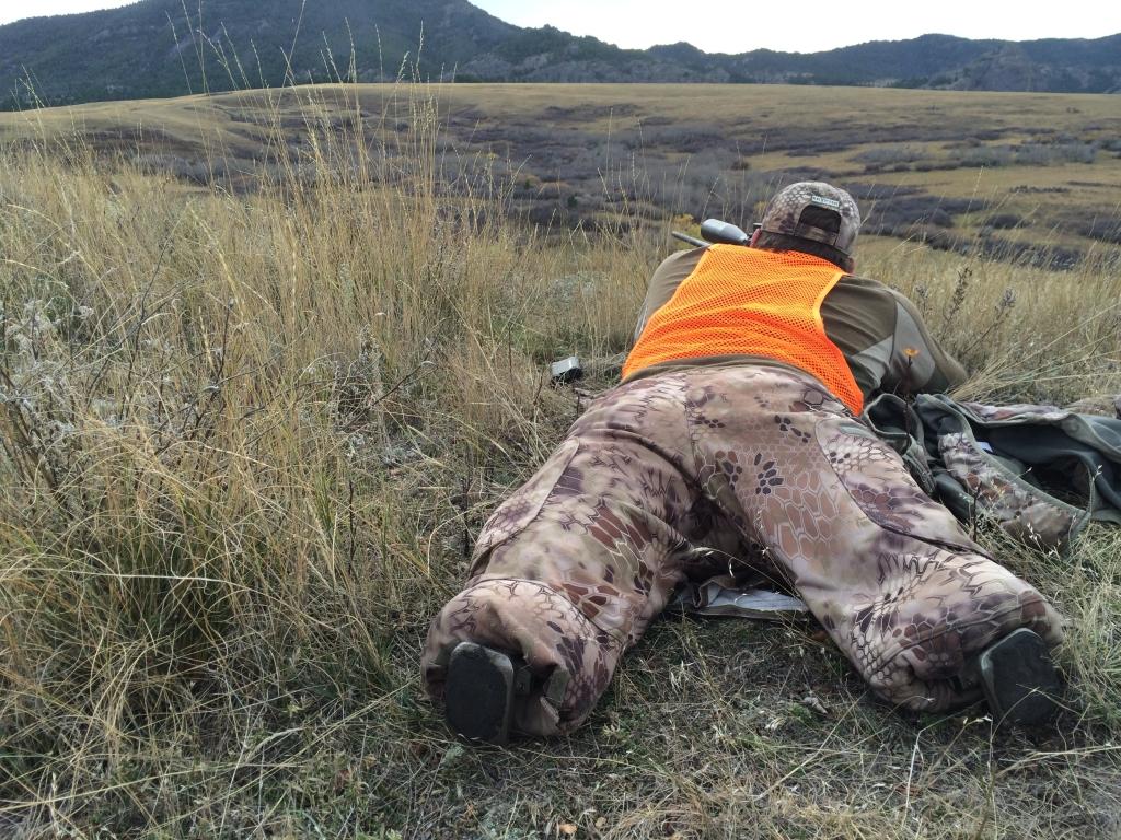Bo gets ready to shoot the bull at 436 yards