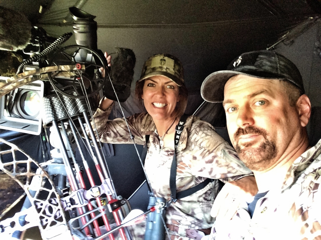 Jana & Jim waiting patiently for an antelope.