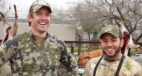 Aaron and John recapping the morning hunt