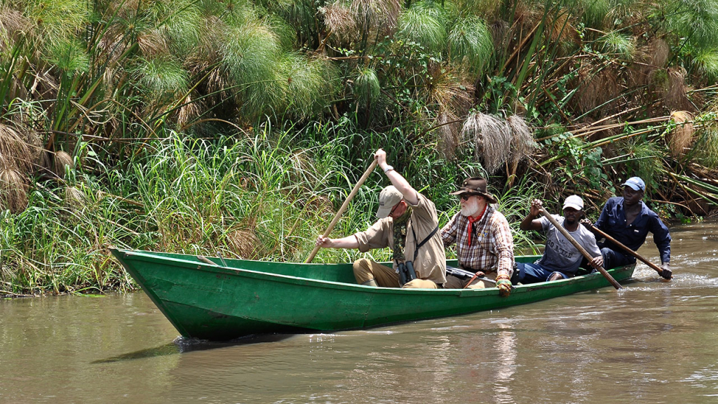 Canoeing Uganda