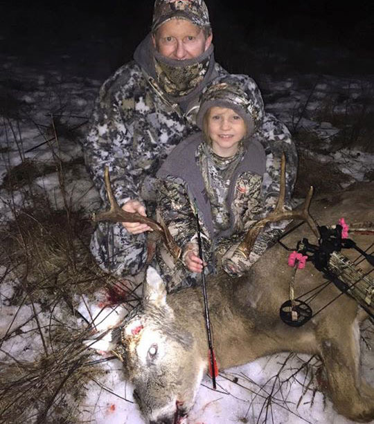 Jay Gregory and Daughter with Buck
