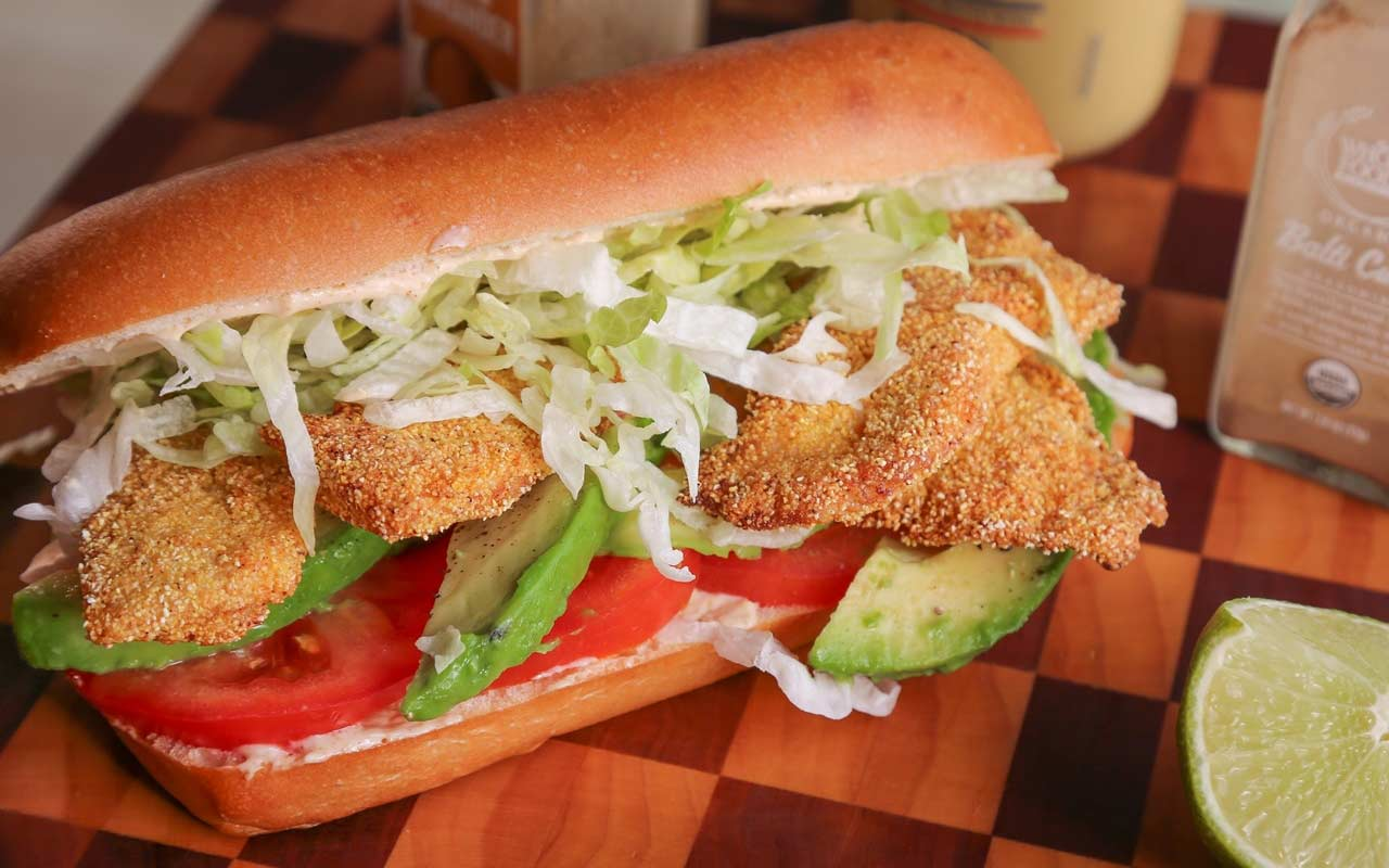 Preparing fried-fish sandwiches with a few select fresh veggies is a great way to make a small portion of fillets feed more people. (Jenny Nguyen photo)