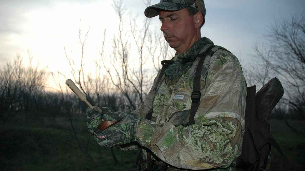 Since turkeys may like different calling sounds from one day to the next, keep a supply of different calls in your hunting vest. (Lynn Burkhead photo)