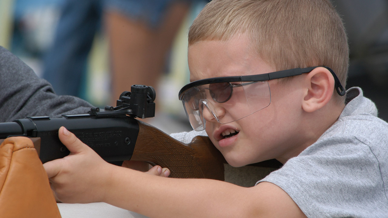 Someone made the pledge to get this youngster involved in shooting. Join Richard Childress and other outdoor men and women to do the same on September 23. (Photo courtesy of WOW)