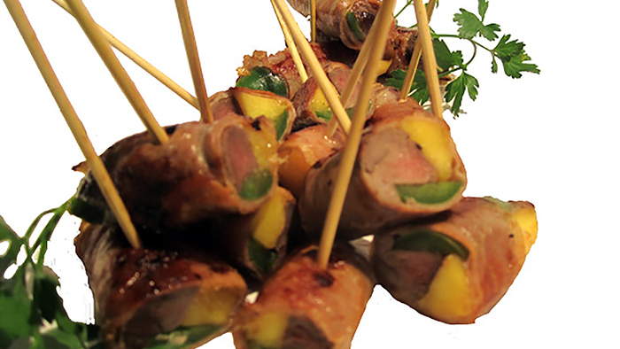 "Prosciutto-Wrapped Duck with Mango and Jalapeño Recipe (Photo courtesy of ""The Sporting Chef"")"