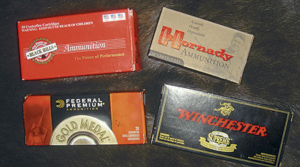 Black Hills, Hornady, Federal and Winchester
