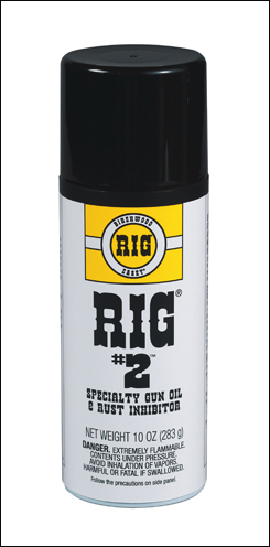 Lubricates and inhibits rust on firearms.
